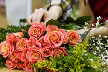 玫瑰花束作品大名推荐